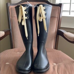 Old Navy Black rubber rain boots
